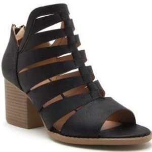 Shoes - TAMARA Cut Out Booties - BLACK